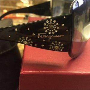 Ferragamo Bejeweled Sunglasses